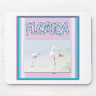 Florida White Flamingos Mouse Pad