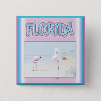 Florida White Flamingos Pinback Button