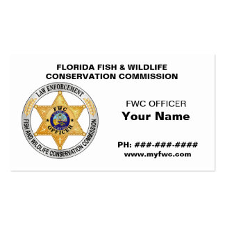 Florida Wildlife Commission FWC Business Cards