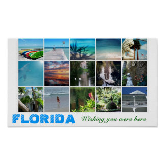 Florida Wishing you were here travel poster photo