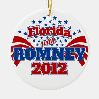 Florida with Romney 2012 Ceramic Ornament