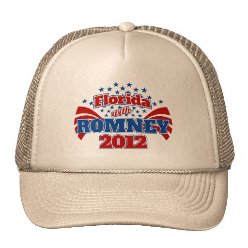 Florida with Romney 2012 Mesh Hats