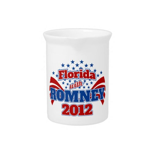 Florida with Romney 2012 Pitcher