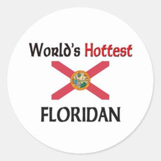 Floridan más caliente del mundo etiquetas