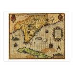 FloridaPanoramic MapFlorida Tarjeta Postal