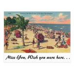 Florida's Fine Beaches Postcard