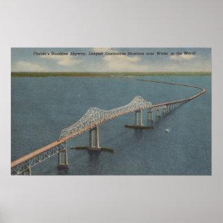Florida's Sunshine Skyway BridgeFlorida Poster