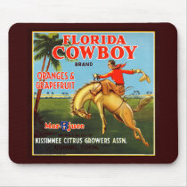 Floriday Cowboy Mouse Pad