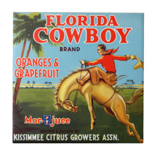 Floriday Cowboy Small Square Tile