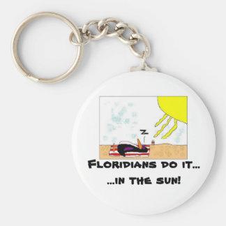 Floridians do it....... basic round button keychain
