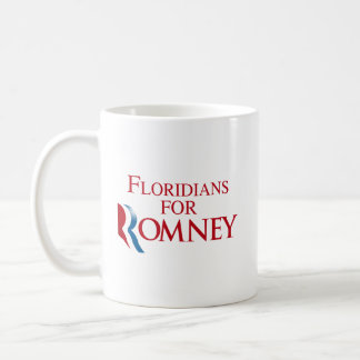 FLORIDIANS FOR ROMNEY.png Classic White Coffee Mug
