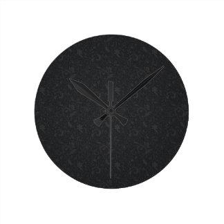 florido-fondo reloj redondo mediano