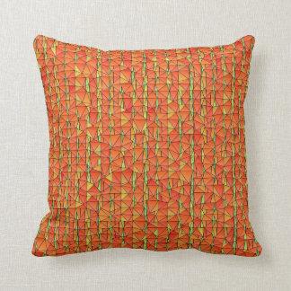 Florilla s Tangy Orange Mosaic Mojo Pillow