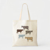 Florillas Cow Tote Bag