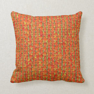 Florilla's Tangy Orange  Mosaic Throw Pillow