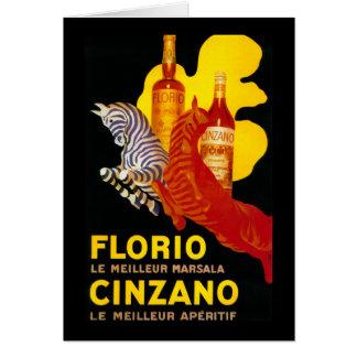 Florio Cinzano Vintage PosterEurope Card