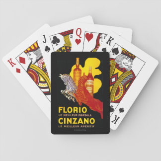 Florio Cinzano Vintage PosterEurope Card Deck
