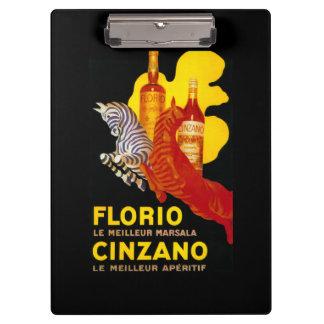 Florio Cinzano Vintage PosterEurope Clipboard