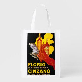 Florio Cinzano Vintage PosterEurope Grocery Bag
