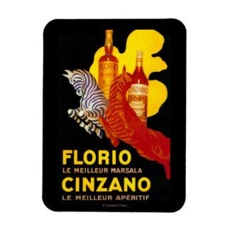 Florio Cinzano Vintage PosterEurope Rectangular Photo Magnet