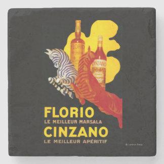 Florio Cinzano Vintage PosterEurope Stone Coaster