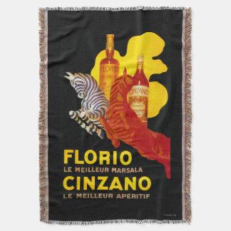 Florio Cinzano Vintage PosterEurope Throw