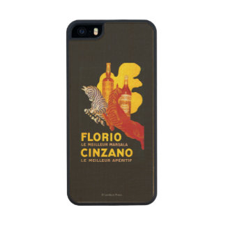 Florio Cinzano Vintage PosterEurope Wood Phone Case For iPhone SE/5/5s
