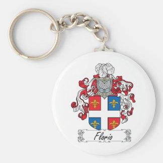 Florio Family Crest Basic Round Button Keychain
