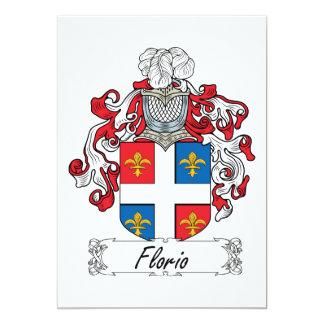 Florio Family Crest Card