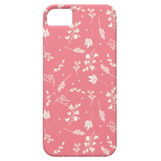 Floriography Coral and Cream Phone Case
