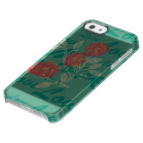 Floriography Red Roses Love Inkblot Uncommon Clearly™ Deflector iPhone 5 Case