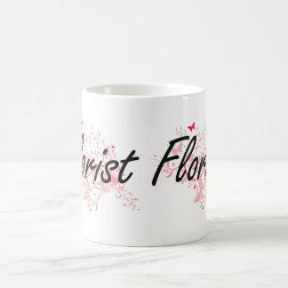 Florist Artistic Job Design with Butterflies Coffee Mug