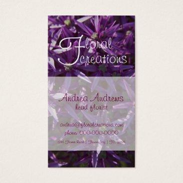 Professional Business Florist Business Card