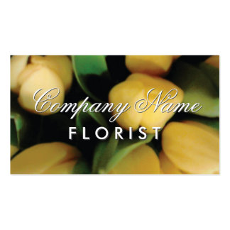 Florist business card template with tulip flowers