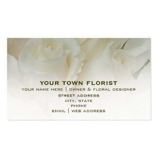 Florist Business Card - White Roses