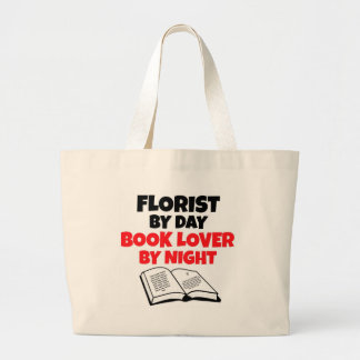 Florist by Day Book Lover by Night Canvas Bags