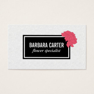 Florist | Carnations (Red) Business Card