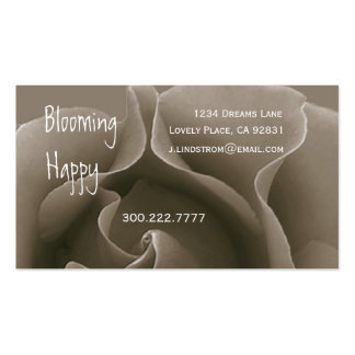 FLORIST - Cocoa Mist Rose Business Card Template