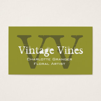 Florist Customizable Business Card Monograms