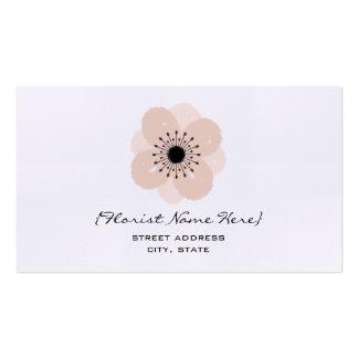 Florist / Floral Designer Business Card - Anemone