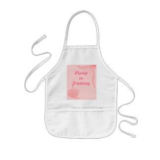 """Florist In Training""- Pink Butterfly & Flowers Kids' Apron"