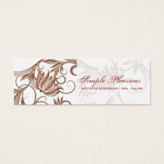 Florist interior decorator spa salon mini business card