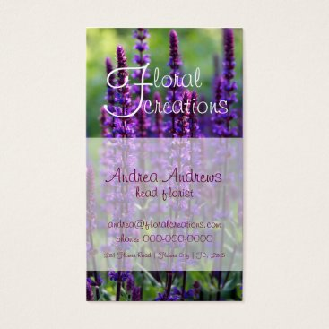 Professional Business Florist Lilac Business Card