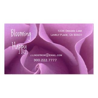 FLORIST - LILAC PURPLE Rose Business Card Template