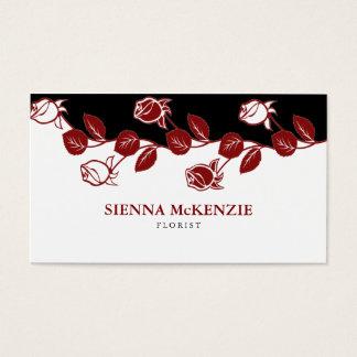 Florist (Maroon) Business Card