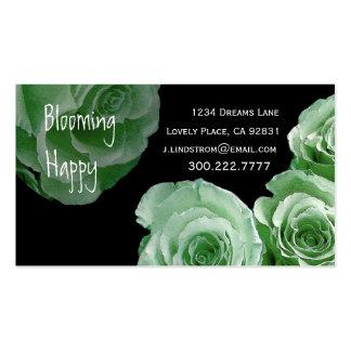 FLORIST - Mint Rose Bouquet Business Card Template