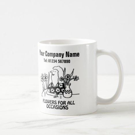 Florist or Flower Shop Cartoon Mug