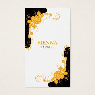 Florist (Orange) Business Card