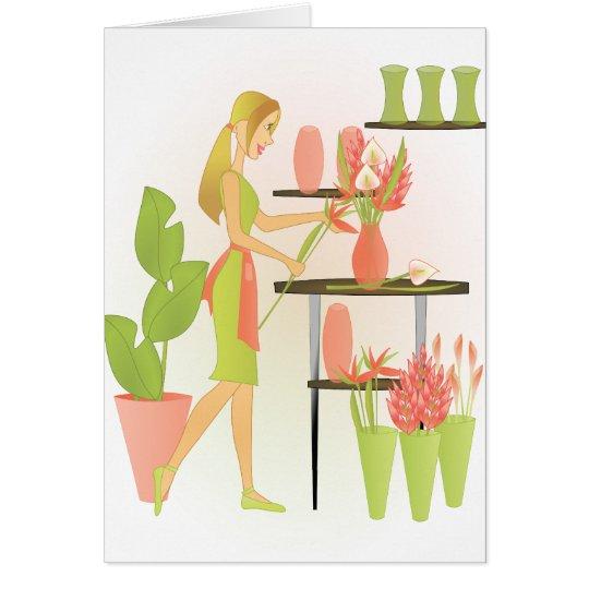 Florist-Peach Card