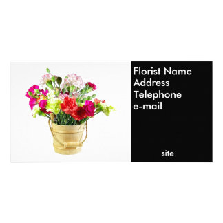 Florist Photo Business Card